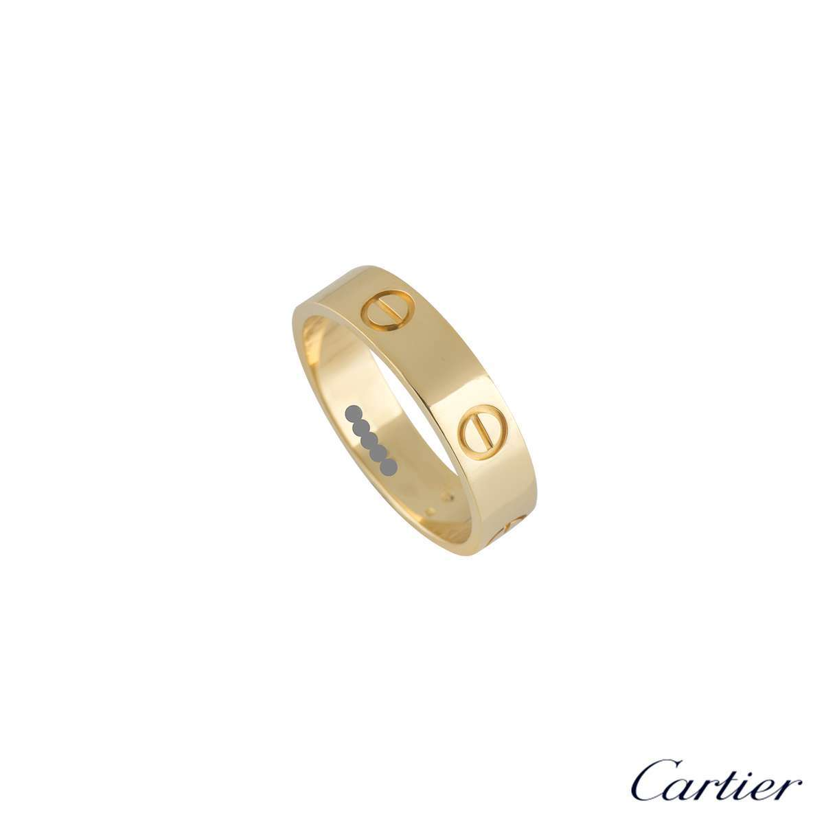 Cartier Yellow Gold Love Ring Size 61B4084661